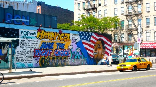 Alphabet city Obama mural nyc