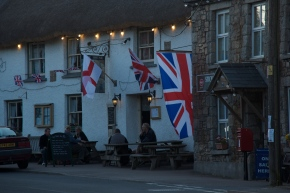 English Pub with flags