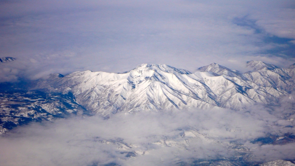 Mountain Peaks covered in snow
