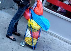 Shopping cart of colour