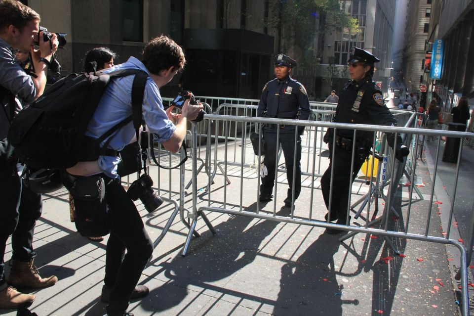 taking shots of NYPD
