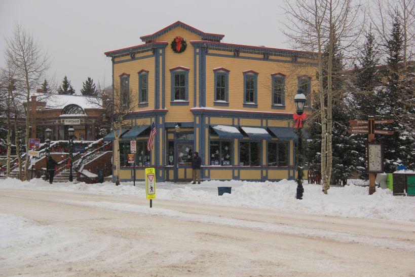 Main St snowy Breckenridge