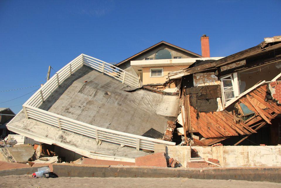 Housing destruction at Rockaway