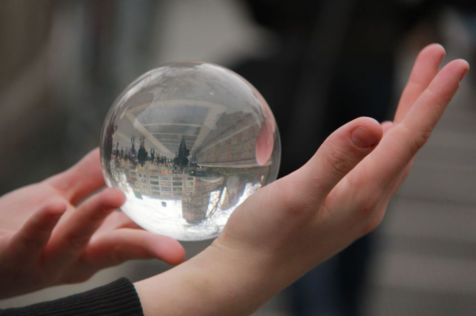 crystal ball in hands