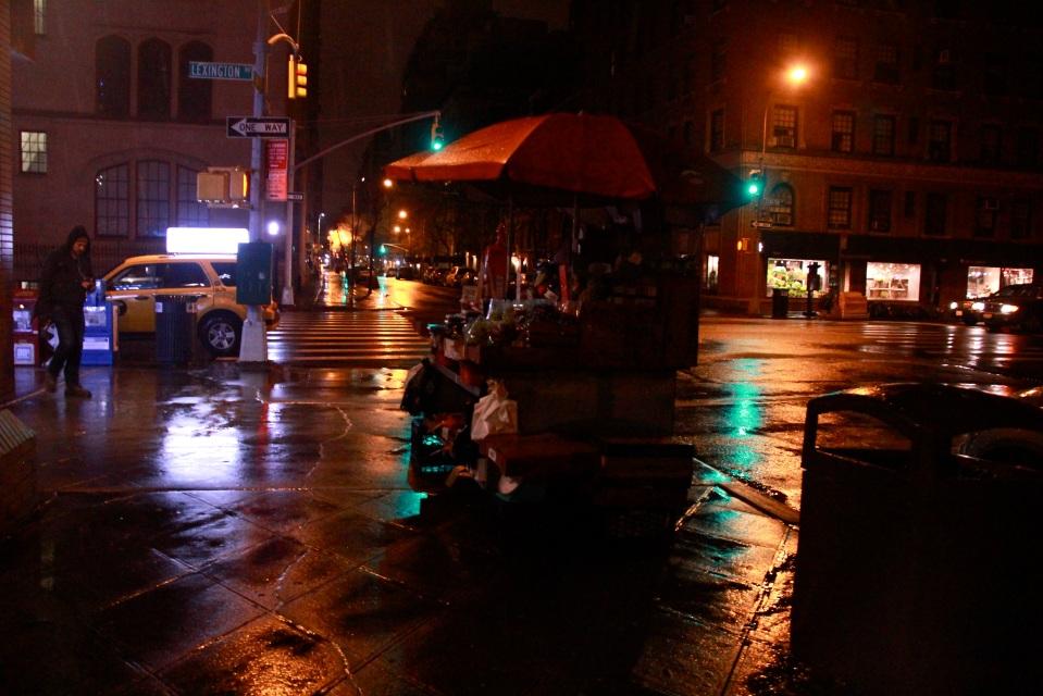 reflection late night NY street
