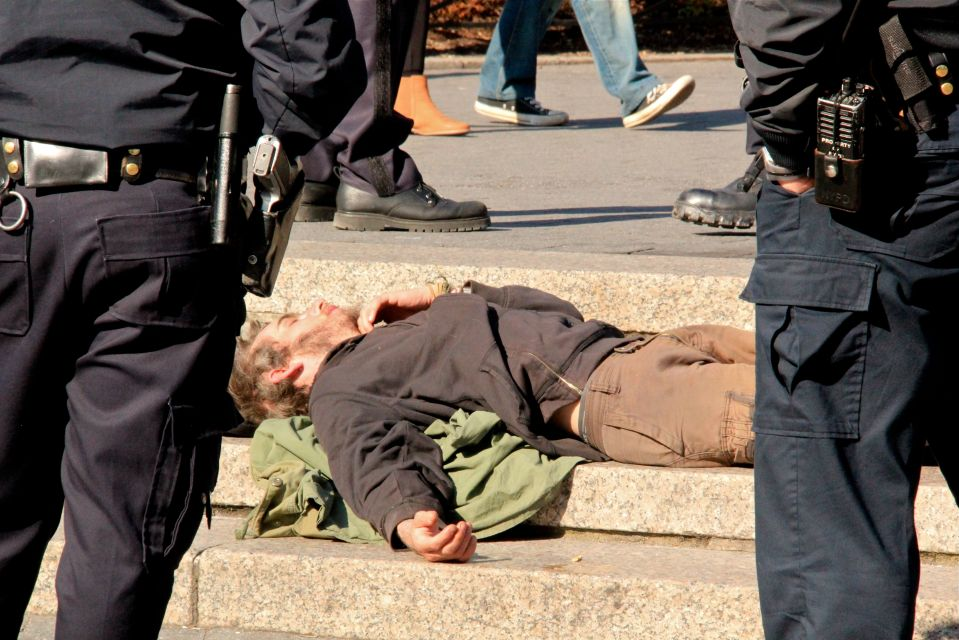 IMG_4108/Union Sq sleeper with NYPD