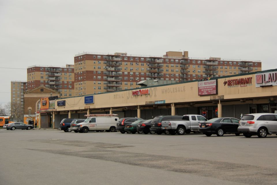 IMG_5131 Shopping strip and parking lot Rockaway.  PA*F