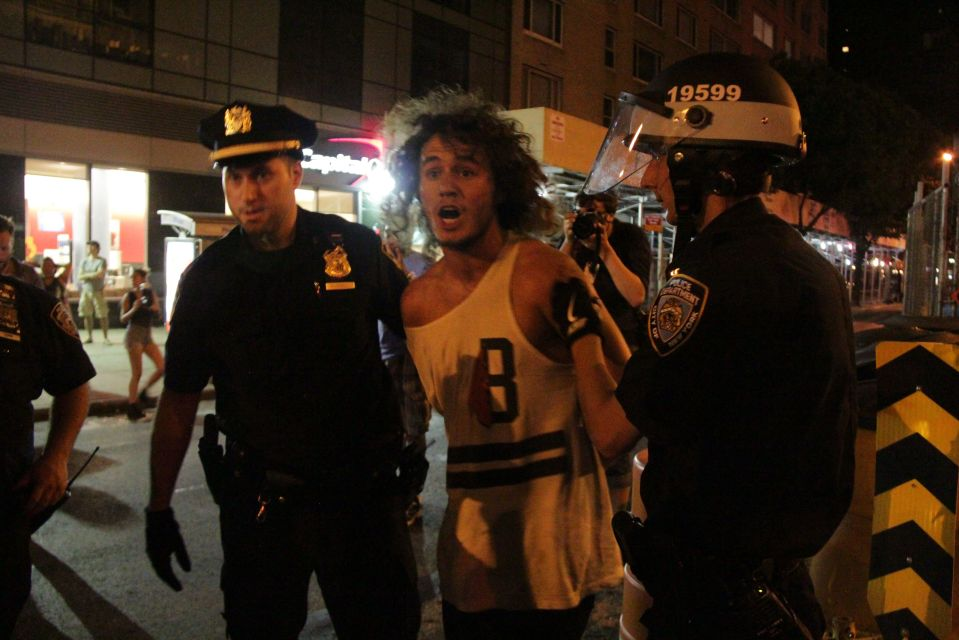 IMG_1614/Protestor being held under arrest by NYPD