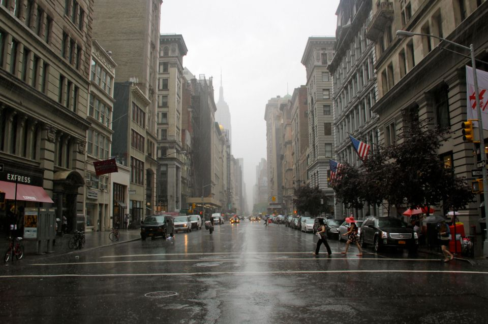 Heavy Fifth Ave Rain