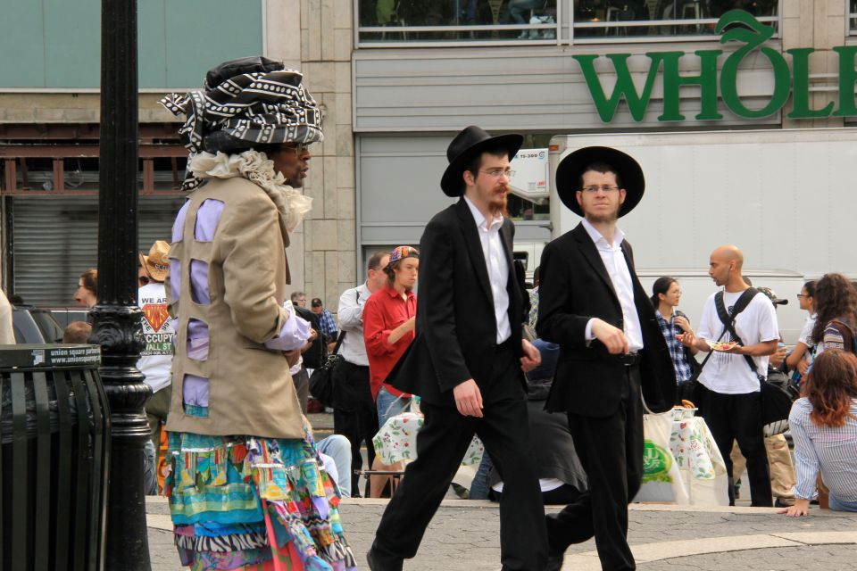 Wendell with hassidic boys in Union sq