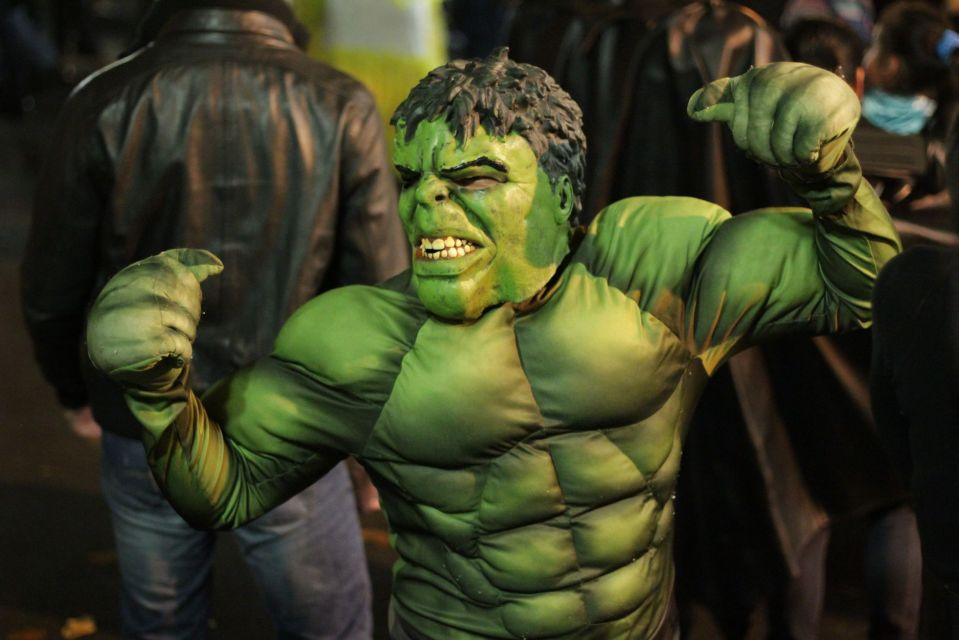 The Incredible Hulk shows muscle