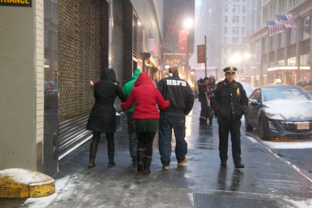 Walking together NYPD