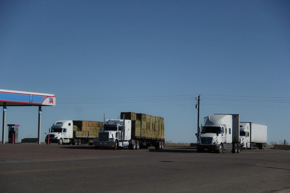 Hay Bales I-70 truck stop