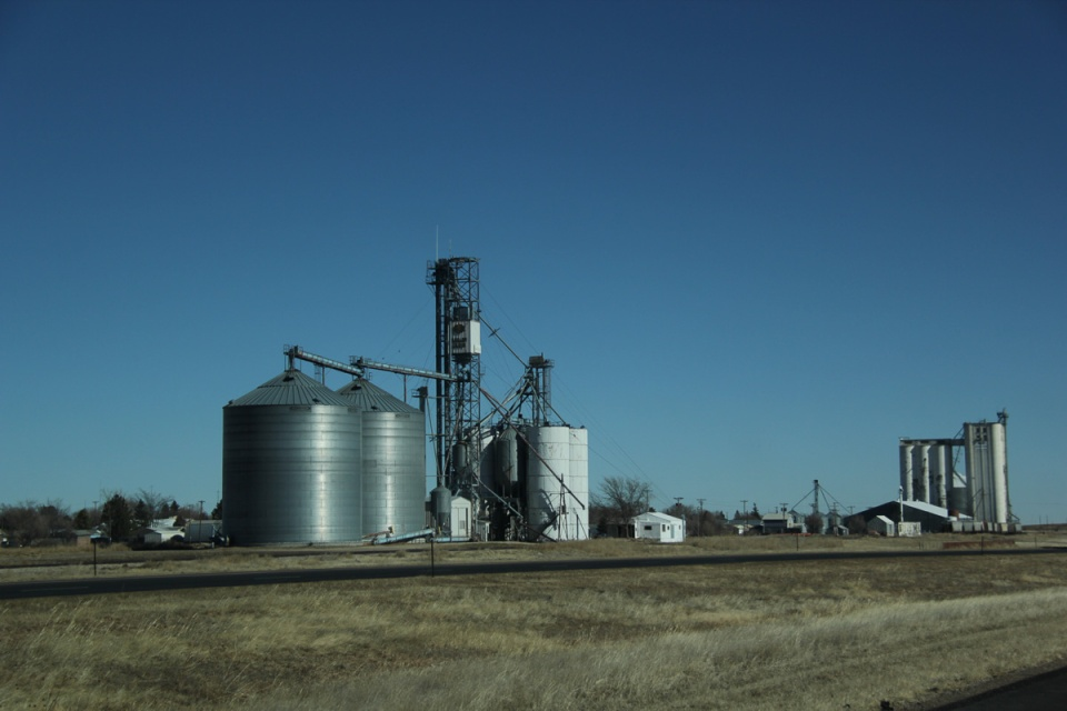 Wheat Silos Kansas Great Plains