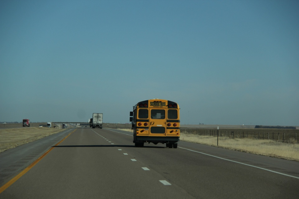 School Bus I-70 Kansas