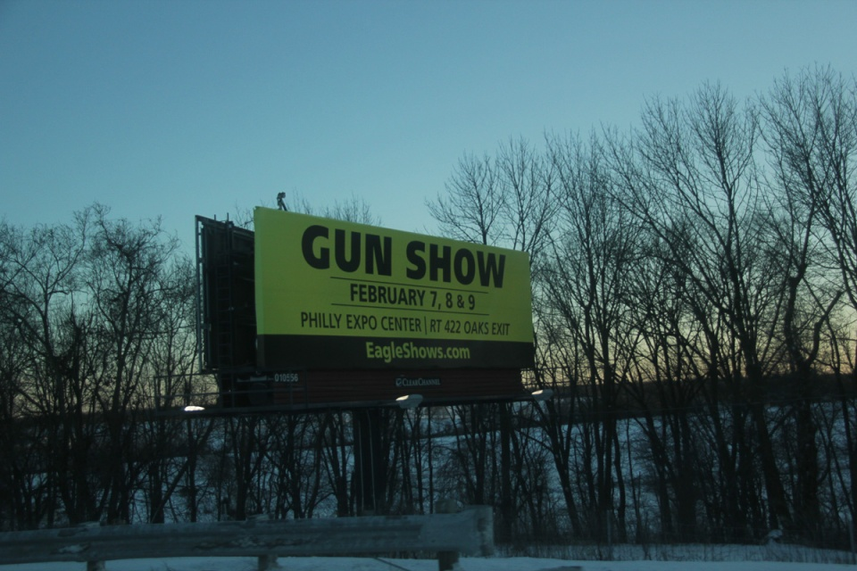 Philly Gun Show billboard