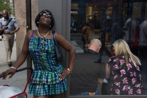Woman standing on corner