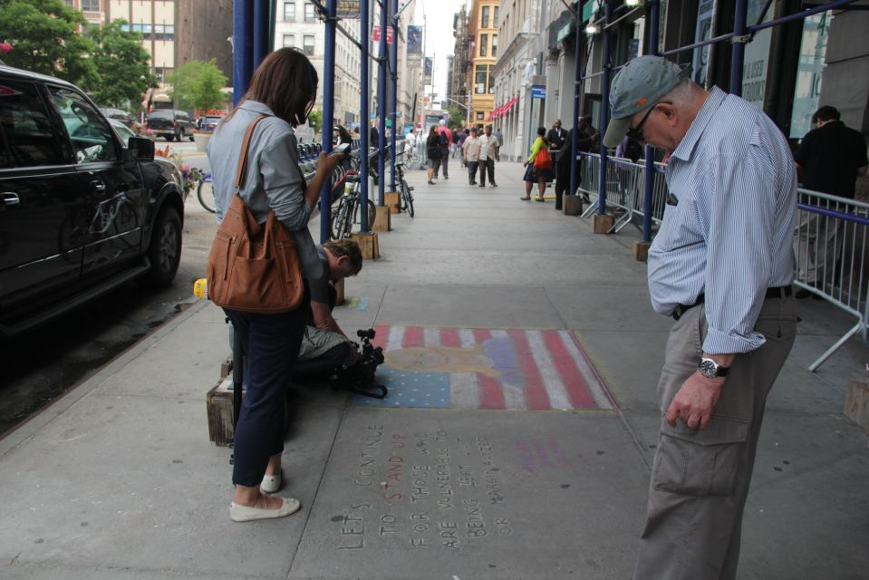 Stars and Stripes in chalk