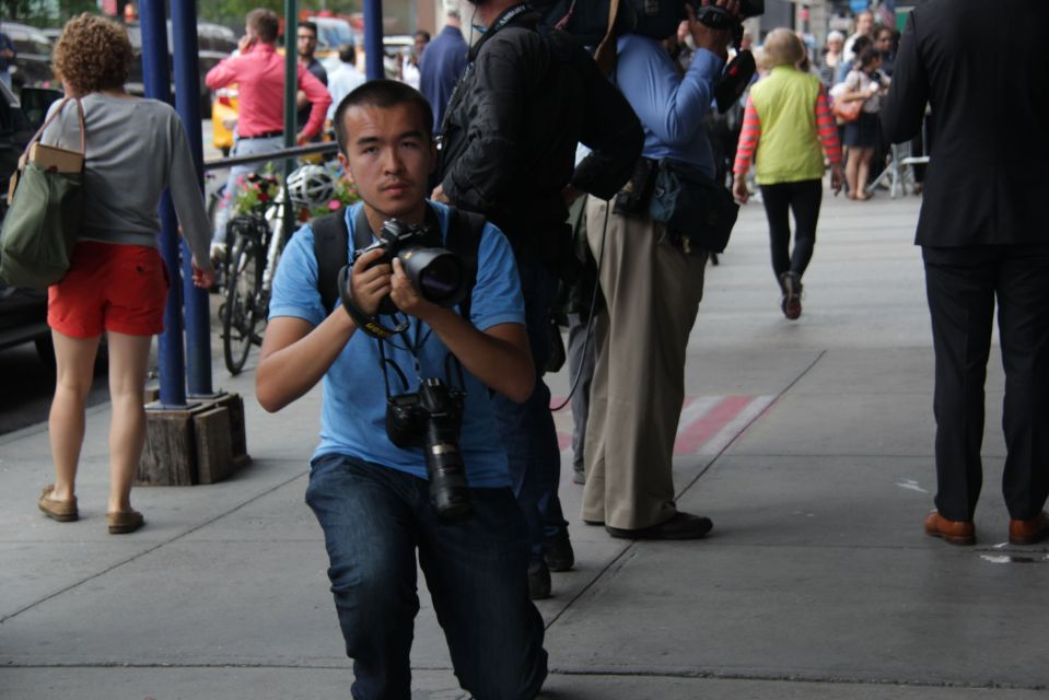 Cameraman on street