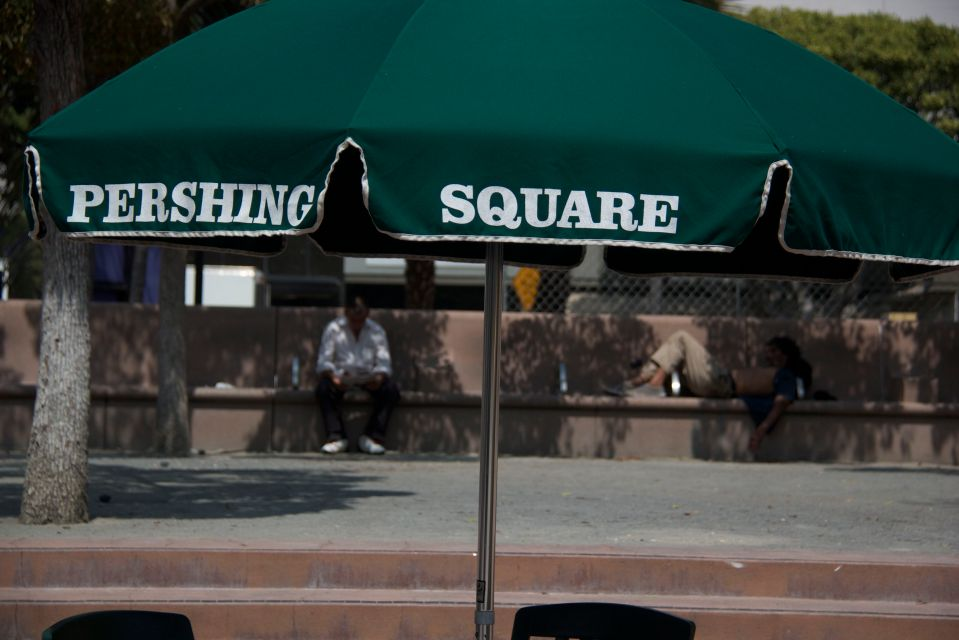 Pershing Sq Green Umbrella