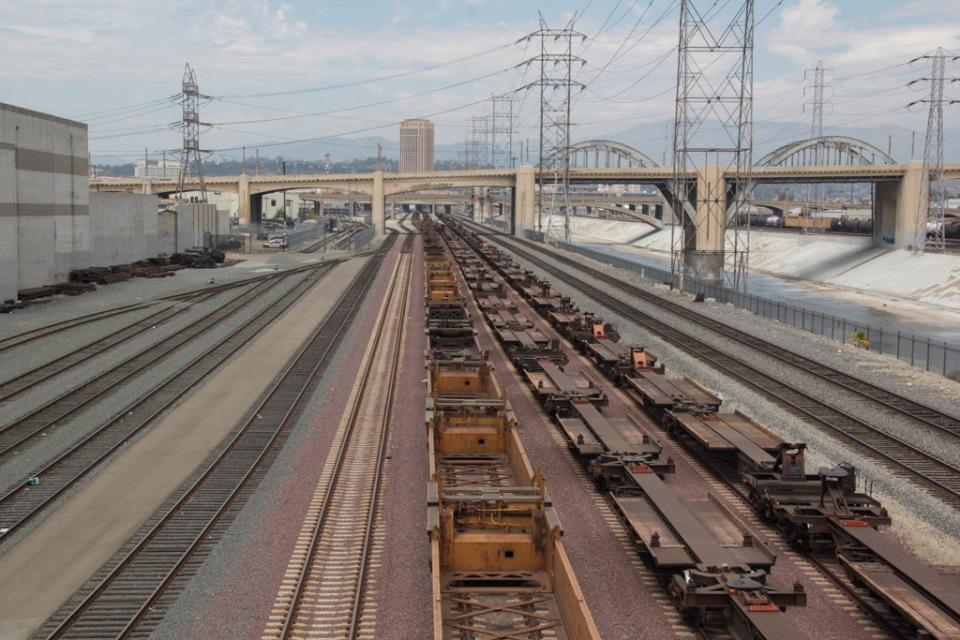 LA River tarin tracks