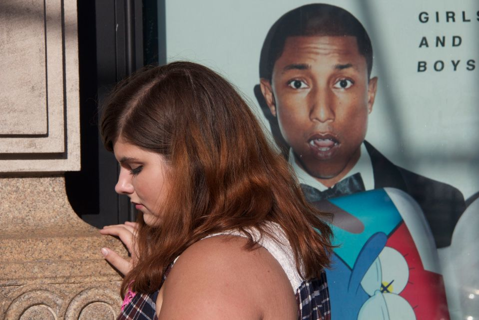 Girl and Pharrell Williams