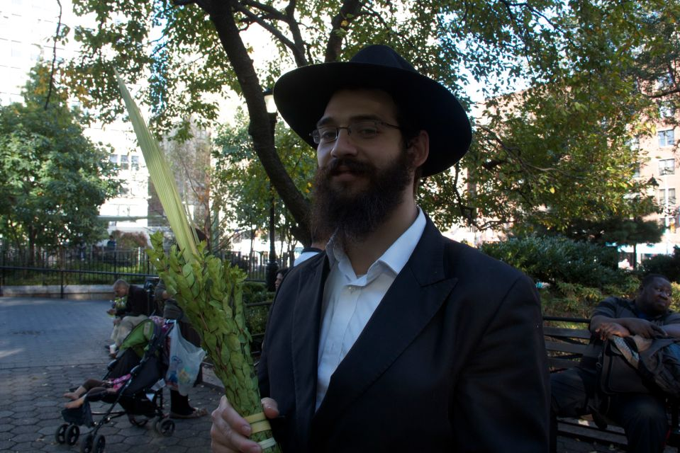 Waving the Sukkah Reed