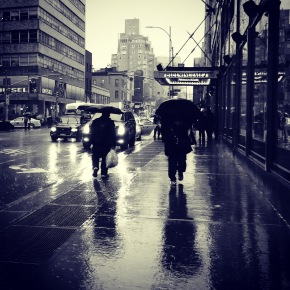 Heavy New York City Rain