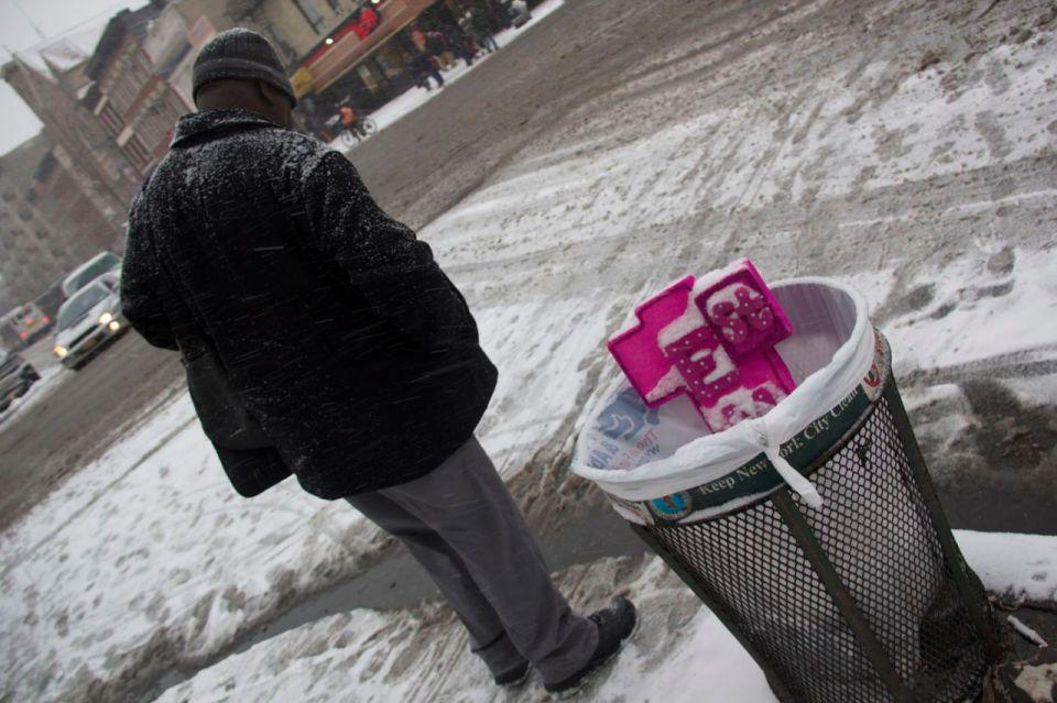 Pink Cross Dumped