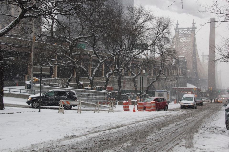 59th Street Bridge in Snow