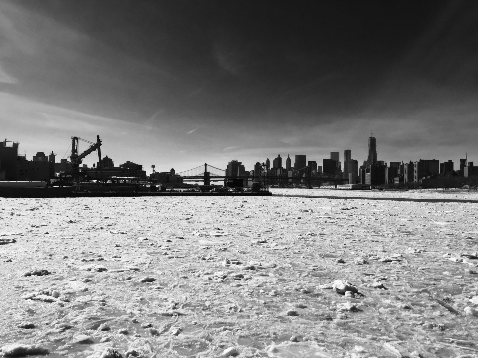 Frozen River Skyline