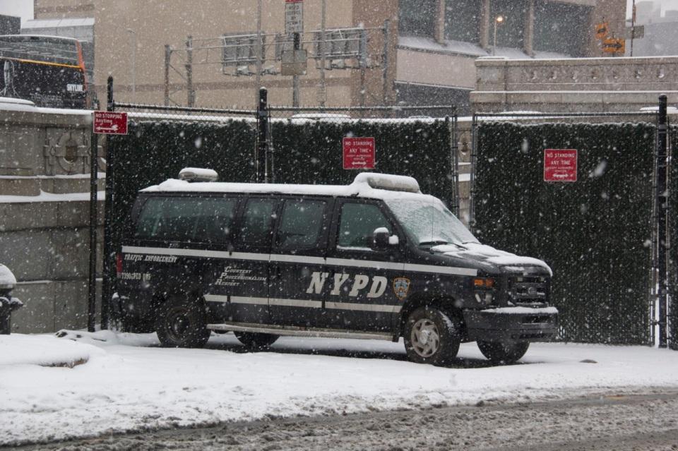 NYPD Snow Van