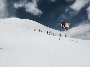 Stars, stripes and snow