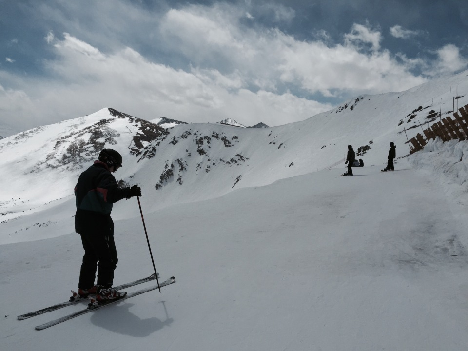 Skier on snow peak