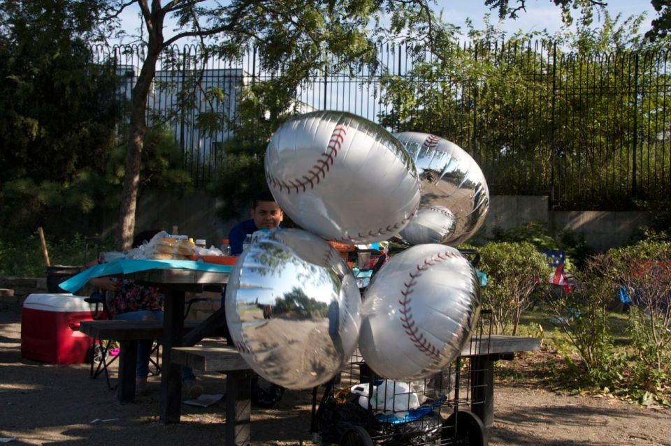 Birthday party in boating park near river, hunts point, the bronx