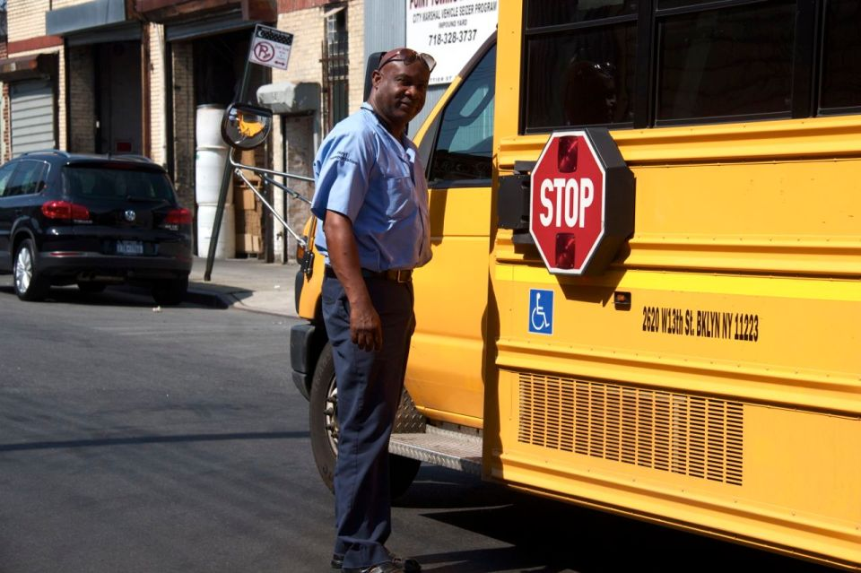 Yello school bus driver Hunts Point, the Bronx
