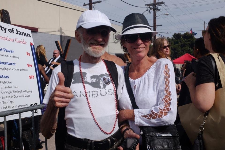 Ron Muncaster, costume designer, and Jenny at Folsom St Fair