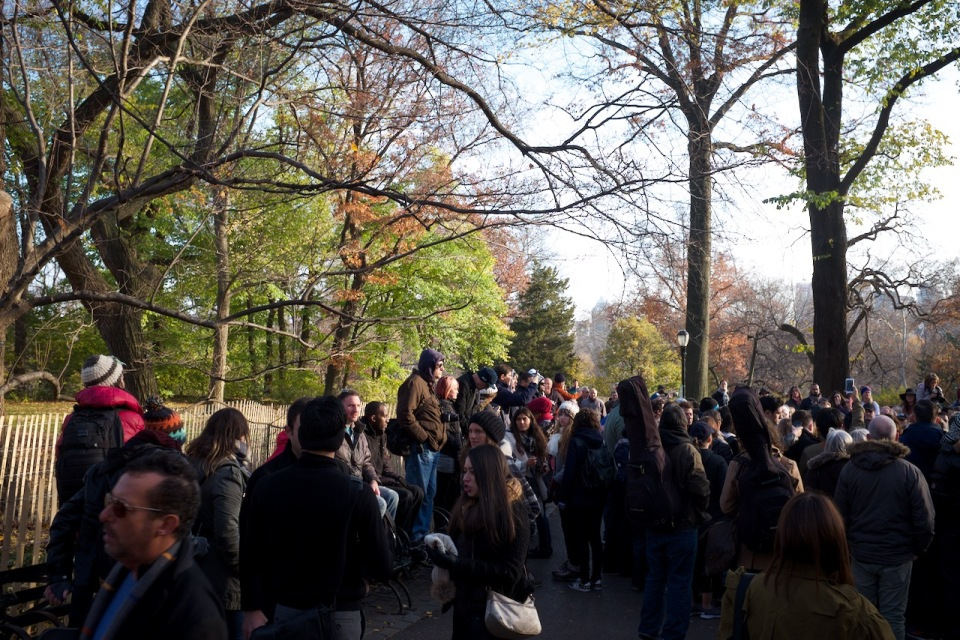Crowd of fans at Strawberry Fields