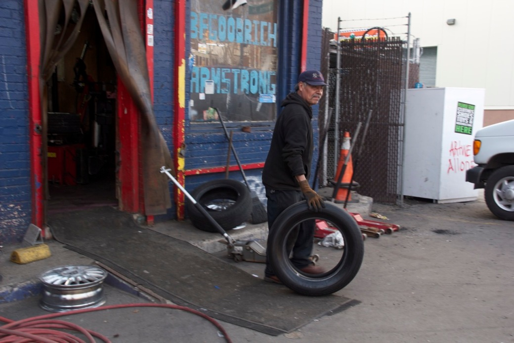 Man with tire ©PattiFogarty