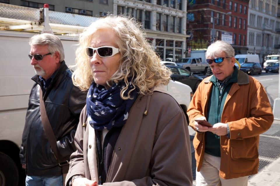 Woman, sunglasses, stripes©PattiFogarty