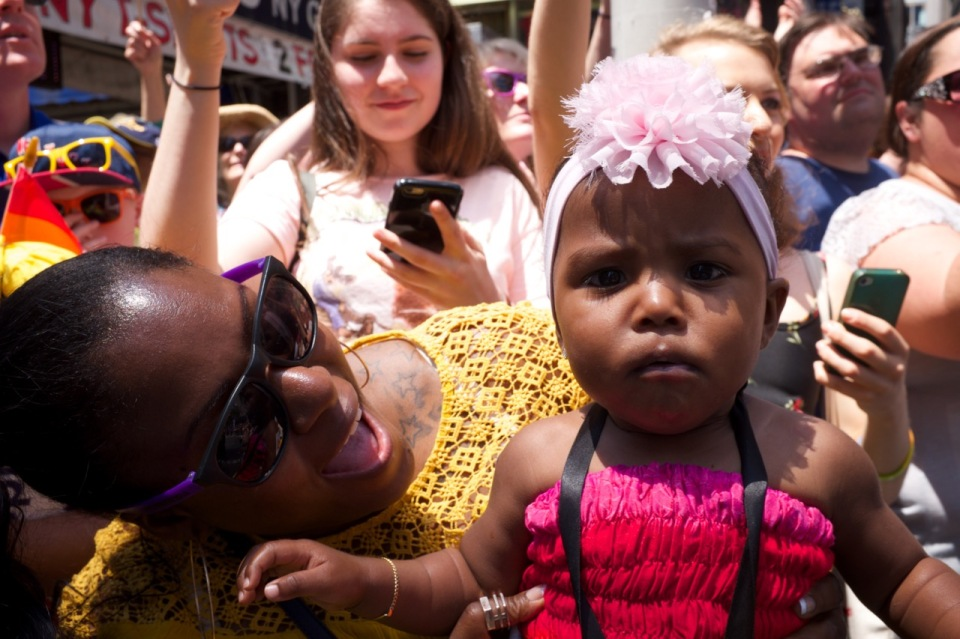Mother and baby NYC Pride 2016