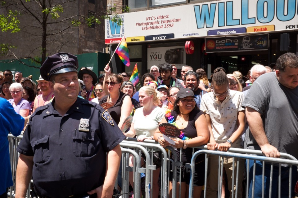 NYPD officer NYC Pride 2016