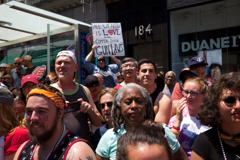 All We need is Love sign in NYC pride 2016 crowd