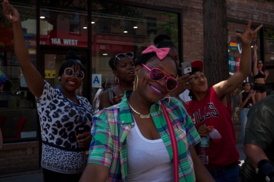women in crowd niece pride 2016