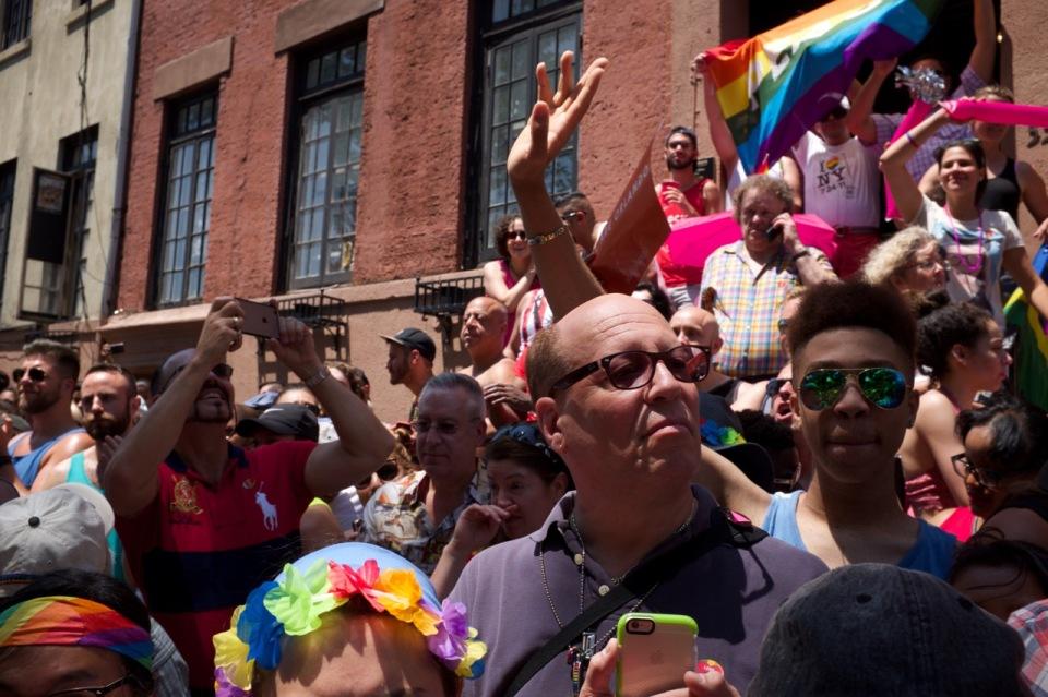 Stonewall crowd NYC pride 2016