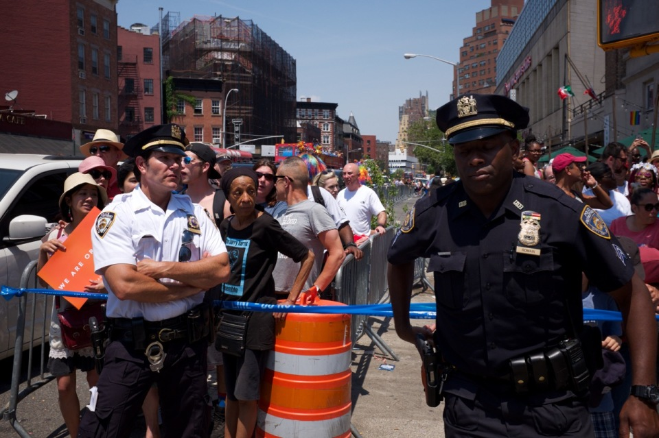 NYPD officers NYC Pride 2016