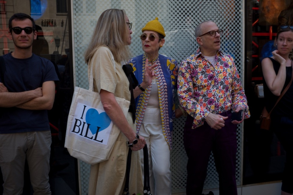 Tziporah Salamon and friends at Bill Cunningham Cnr NYC
